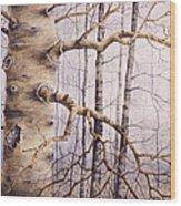 Branching Poplar Wood Print