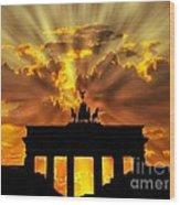 Brandenburg Gate Brandenburger Tor Berlin Germany Wood Print