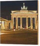 Brandenburg Gate Panoramic Wood Print by Melanie Viola