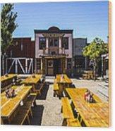 Branding Iron Restaurant Wood Print