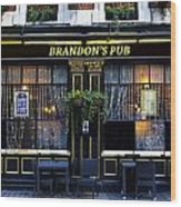 Brandon's Pub Wood Print