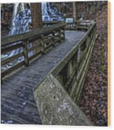 Brandywine Falls Overlook Wood Print