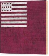 Brandywine Flag Wood Print by World Art Prints And Designs