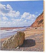 Branscombe Beach - Impressions Wood Print