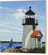 Brant Point Lighthouse Nantucket Massachusetts Wood Print