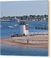 Brant Point  Wood Print by Lorena Mahoney
