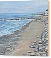 Brant Rock At High Tide Wood Print