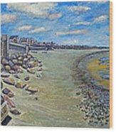 Brant Rock Beach Wood Print