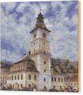 Brasov City Hall Wood Print