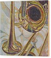 Brass At Rest Wood Print