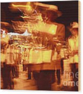 Brass Band At Night Wood Print