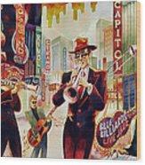 Brass On Broadway Wood Print