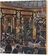 Brasserie Bofinger In The Rue De La Bastille, Paris, 1999 Oil On Canvas Wood Print