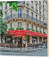 Brasserie De L'isle St. Louis Paris Wood Print
