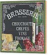 Brasserie Paris Wood Print by Debbie DeWitt