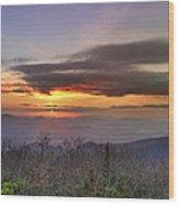 Brasstown Bald At Sunset Wood Print