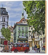 Bratislava Town Square Wood Print