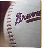 Braves Baseball Wood Print by Ricky Barnard