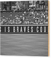 Braves Country Wood Print