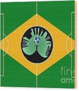 Brazilian Football Field Wood Print