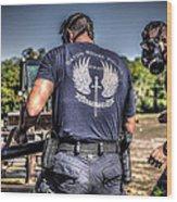 Breaching With Baton Rouge Swat Wood Print