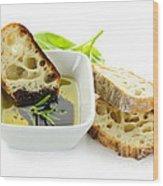 Bread Olive Oil And Vinegar Wood Print