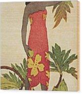 Breadfruit Girl Wood Print