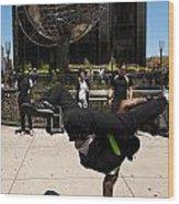 Break Dancer  Columbus Circle Wood Print