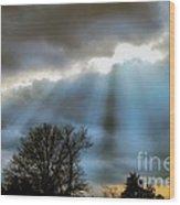 Break In The Storm Wood Print
