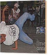 Breakdancer Wood Print