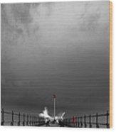 Breaker Wood Print by Kris Dutson