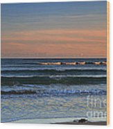 Breakers At Sunset Wood Print by Louise Heusinkveld