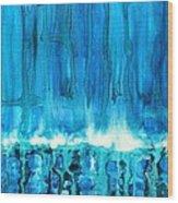 Breakers Off Point Reyes Original Painting Wood Print