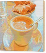 Breakfast At Cafe Du Monde Wood Print