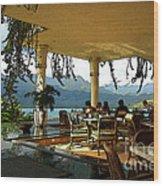 Breakfast In Hanalei Wood Print