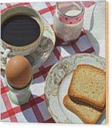Breakfast On A Table Wood Print