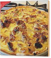 Breakfast Quiche Wood Print by Kay Novy