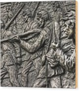 Breaking The Advance.  State Of Delaware Monument Detail-l1 Gettysburg Autumn Mid-day. Wood Print