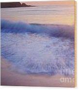 Breaking Wave At Sunrise Wood Print