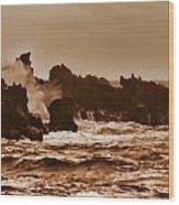 Breaking Waves-big Island Hawaii Wood Print