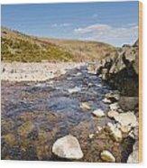 Breamish River Wood Print
