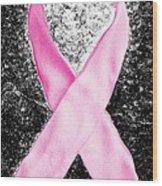 Breast Cancer Awareness Ribbon Wood Print