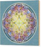 Breath Of Life Mandala Wood Print