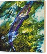 Breathing Water Wood Print