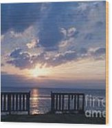 Breathtaking Sunset Wood Print