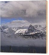 Breckenridge And Clouds  Wood Print