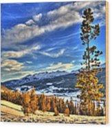 Breckenridge Skies Wood Print by Scott Mahon
