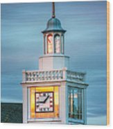 Brecksville Clock Tower Wood Print by Jenny Ellen Photography
