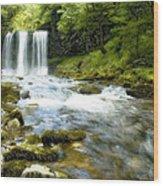 Brecon Waterfall Wood Print
