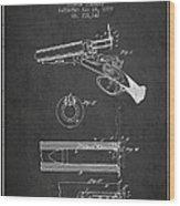 Breech Loading Shotgun Patent Drawing From 1879 - Dark Wood Print